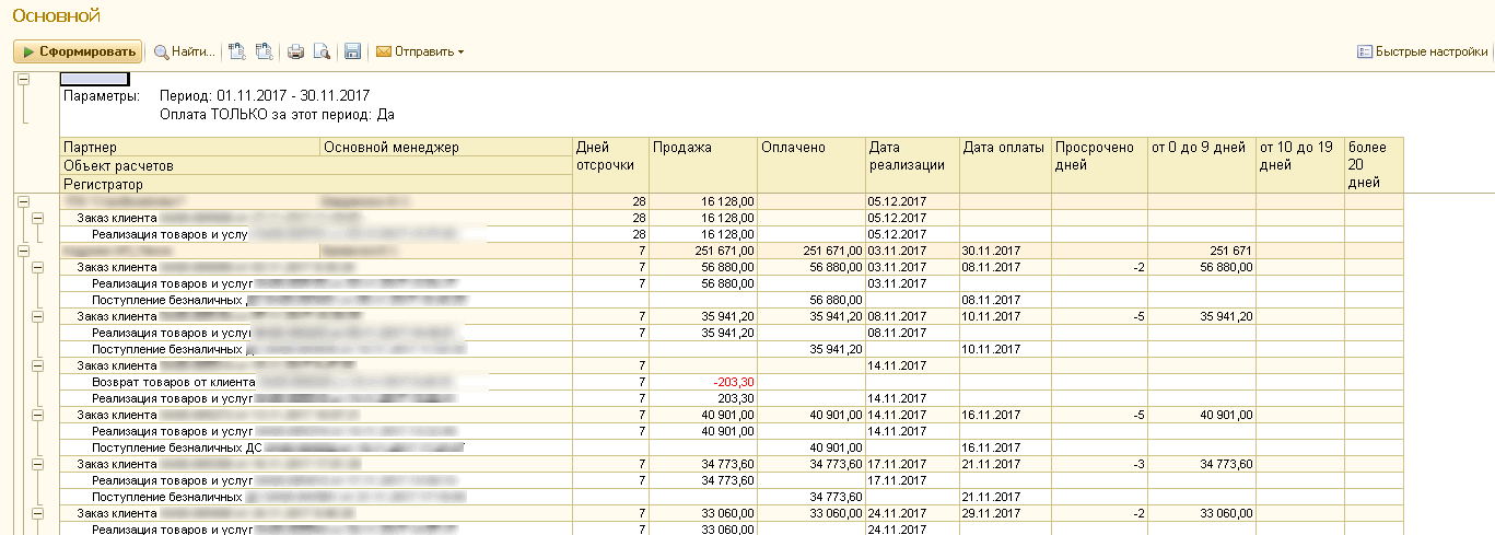 Отчет обслуживание 1с настройка 1с розница видео